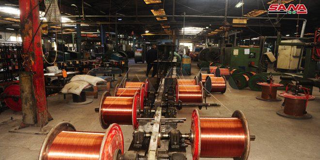 شرکت کابلهای دمشق در نه ماه انواع مختلف کابل را با هزینه 6ر28 میلیارد لیر تولید کرده و سود شرکت بالغ بر 5ر9 میلیارد لیر بوده است