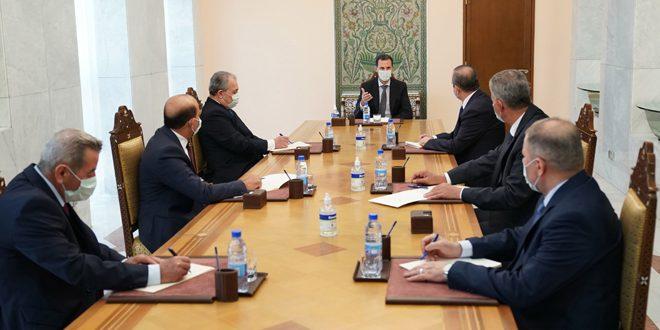استانداران جدید رقه، قنيطره، دير الزور و ادلبدر مقابل رئیس جمهور سوگند یاد کردند