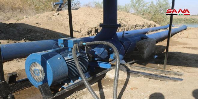 """بهره برداری از پروژه آبیاری در روستای """"البولیل"""" در حومه دیر الزور"""