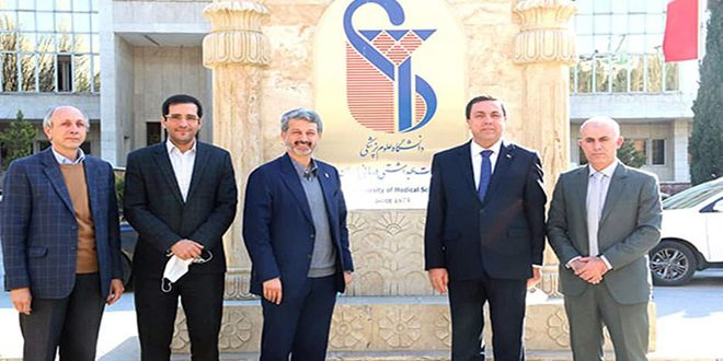 توسعه همکاری فیما بین مراکز علمی و درمانی سوریه و دانشگاه ایران