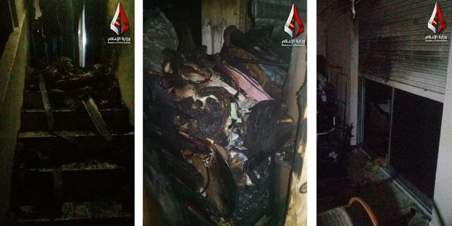 آتشسوزی در خانه ای در دمشق/آتشنشانها جان ۵ نفر را نجات دادند