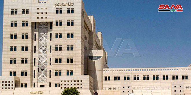 وزارت امور خارجه: ایالات متحده آمریکا و ابزارهای آن در جهان و منطقه، در حمایت از جنگ تروریستی بی سابقه علیه جمهوری عربی سوریه نقش دارند