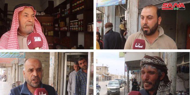 بچه های السبخه حومه آزاد شده رقه: ما در انتخابات بابت تاکید بر وحدت و یکپارچگی سوریه شرکت خواهیم کرد