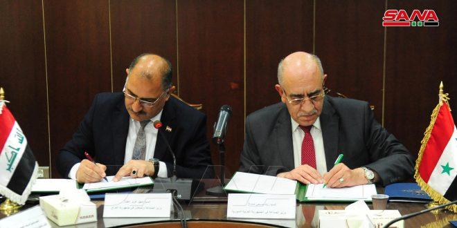 امضای صورت جلسات طرف های سوری و عراقی ..وزیر صنعت: ایجاد نقطه عطفی برای همکاری های صنعتی بین دو کشور