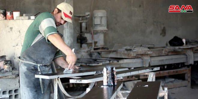 بهبود تدریجی بخش صنعت در حمص