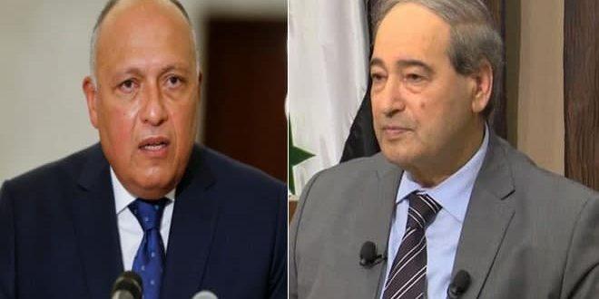 المقداد در خطاب به شکری: روابط بین سوریه و مصر حایز اهمیت بسیاری است زیرا روابط تاریخی عمیقی دارند