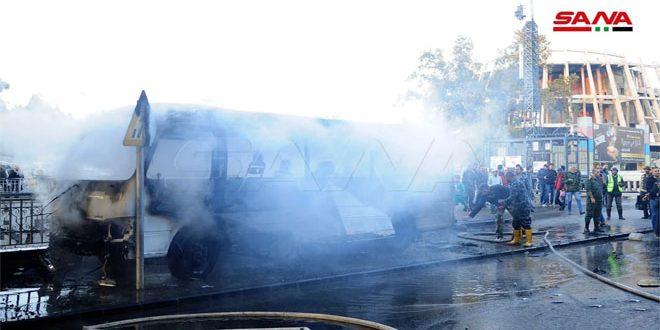محکومیت گسترده انفجار تروریستی در دمشق