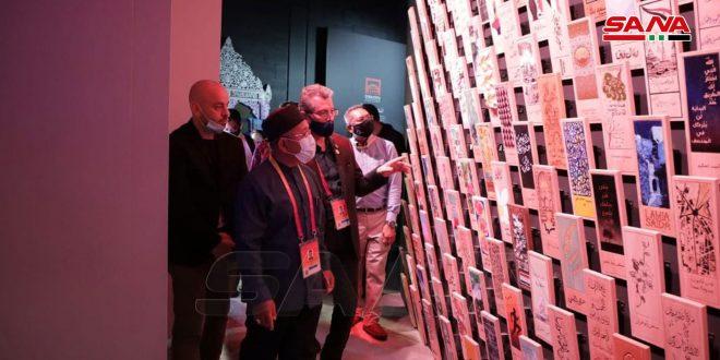 یک هیات عالی رتبه مالزی از غرفه سوریه در نمایشگاه دبی بازدید کرد