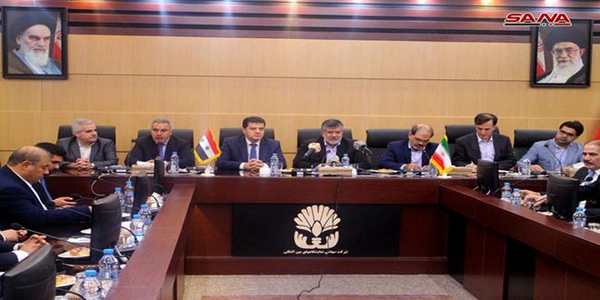 Hamcho examine avec des responsables iraniens le développement de la coopération bilatérale dans les différents domaines