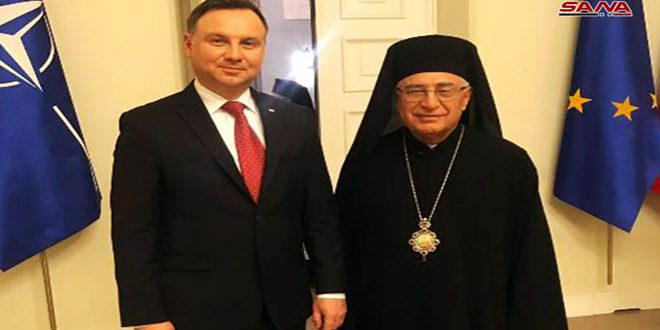 Mgr Abssiréitère son appel à lever l'embargo et les mesures coercitives unilatérales imposés à la Syrie