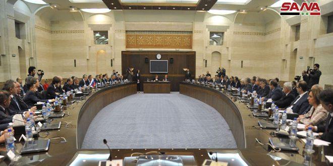 Le comité mixte syro-russe pour la coopération commerciale et économique examine les résultats des comités techniques