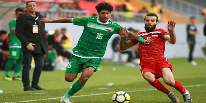 La sélection syrienne olympique de football et son adversaire irakienne font match nul