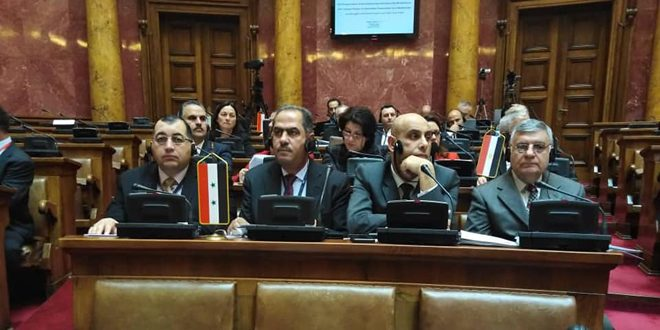 Avec la participation de la Syrie, clôture des travaux de l'Assemblée parlementaire de la Méditerranéen