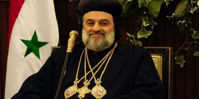 Le patriarche Ephram II: Nécessité de parvenir à une solution politique de la crise en Syrie et de lever les mesures économiques unilatérales qui y sont imposées