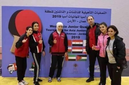 L'équipe syrienne de tennis de table remporte la médaille d'or au Championnat d'Asie de l'Ouest