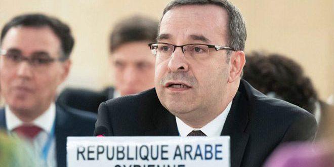 L'ambassadeur Ala : Viser la Syrie par des résolutions politisées au sein du Conseil des droits de l'Homme se contredit au rôle présumé de ce dernier dans la protection des droits de l'Homme