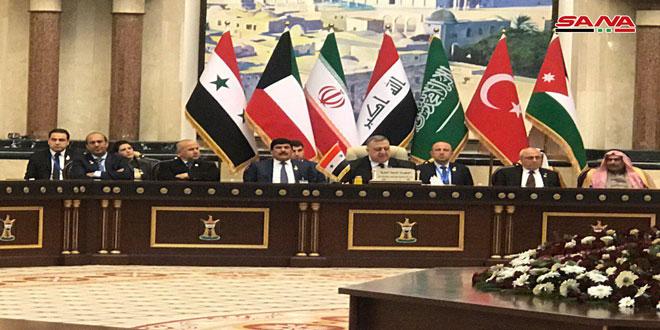 Dans une allocution à Bagdad, Sabbagh: Le peuple syrien est déterminé à vaincre le terrorisme quels que soient les sacrifices consentis