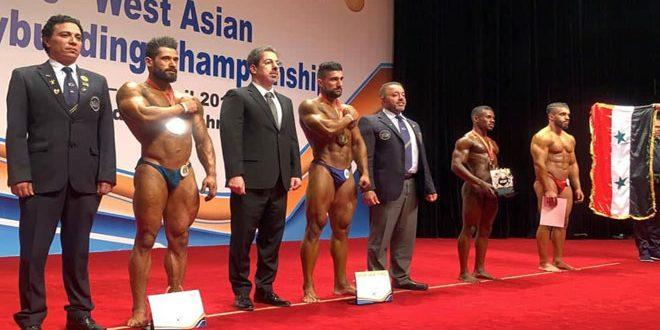 Huit médailles octroyées à la Syrie au Championnat d'Asie de l'ouest de Bodybuilding