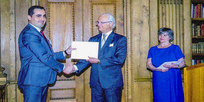 Un chercheur syrien obtient le Prix du Roi pour la Science et la Technologie en Suède