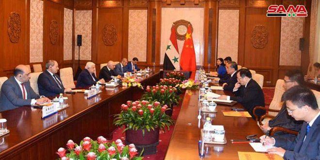 Séances d'entretiens syro-chinois à Pékin sur le renforcement de la coopération entre les deux pays