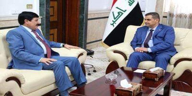 Al-Chemmari examine avec l'ambassadeur Dandah la coopération syro-irakienne dans la lutte antiterroriste