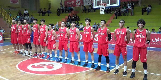 La sélection syrienne de basketball de catégorie (-17) termine sa participation au tournoi amical iranien