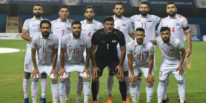 La sélection syrienne de football jouera au groupe « A » au championnat de l'Asie de l'ouest