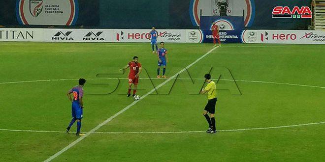 La sélection syrienne « séniors » de football et son adversaire indienne font match nul