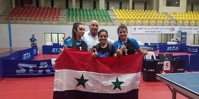L'équipe syrienne de tennis de table remporte une médaille d'or au championnat des clubs d'Asie occidentale