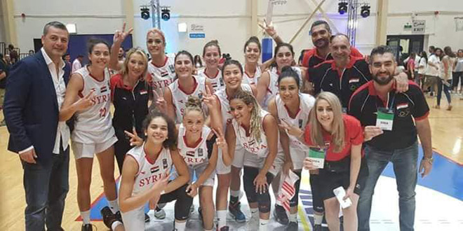 La sélection syrienne de Basketball (Dames) bat son adversaire iranienne au championnat d'Asie de l'Ouest