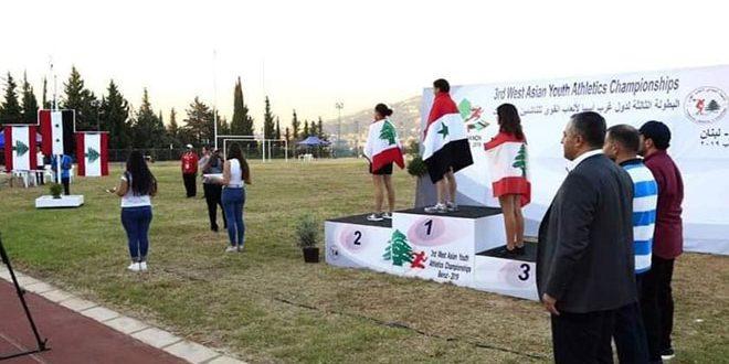 La sélection syrienne d'athlétisme est à la 2e place au Championnat d'Asie de l'Ouest (cadets) avec 15 médailles