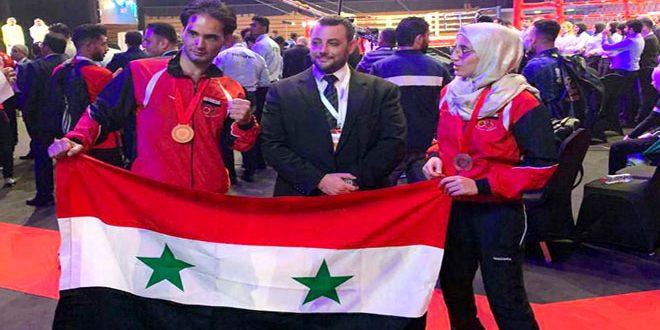 Deux médailles de bronze à la Syrie au Championnat arabe de Muay Thai aux EAU