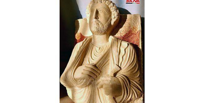 Découverte d'un buste funéraire antique volé par les terroristes de «Daech» avant leur expulsion de Palmyre