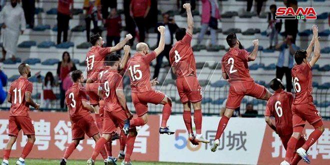 La sélection syrienne de football bat son adversaire philippine aux éliminatoires des deux Coupes d'Asie et du Monde