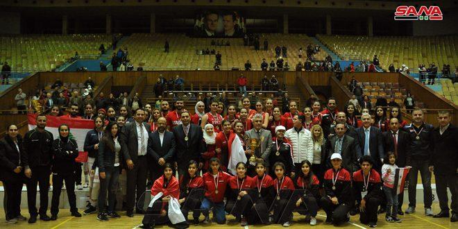La sélection syrienne de basketball (cadettes ) remporte le titre du championnat d'Asie de l'ouest