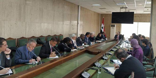 Réunion entre la BCS et les représentants des organisations internationales et onusiennes opérant en Syrie