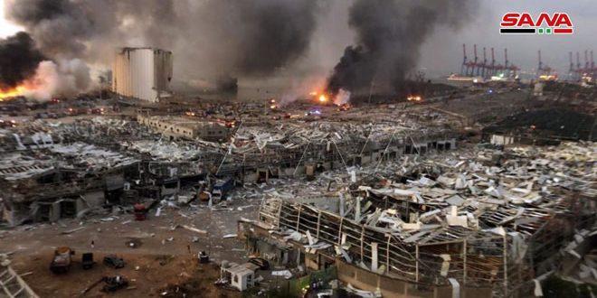 Plus de 63 morts et 3000 blessés, bilan de l'énorme explosion qui a secoué Beyrouth
