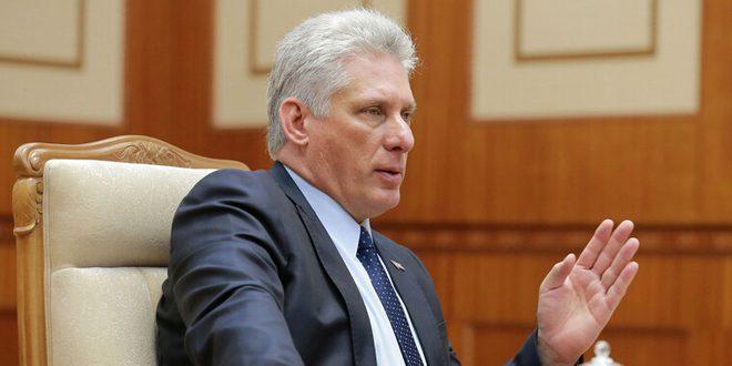 Le président cubain réaffirme l'importance de réaliser un progrès dans le règlement politique de la crise en Syrie