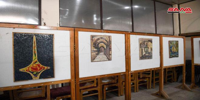Exposition de mosaïque et un atelier de la fabrication dans le cadre de la festivité de la Journée de l'Enfant à Alep