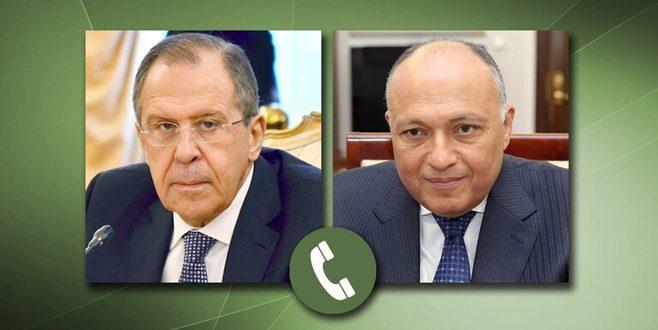 Lavrov et Choukri examine les efforts à faire pour résoudre politiquement la crise en Syrie
