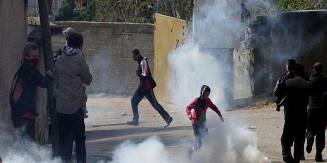 Des dizaines de Palestiniens blessés dans une prise d'assaut de Beit Amr au nord d'al-Khalil par l'occupant israélien