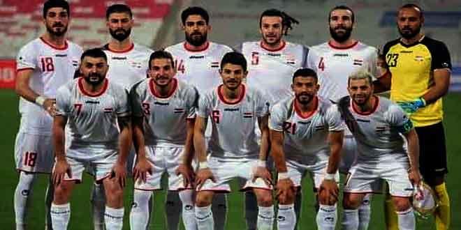 La sélection syrienne de football fait un match amical avec son adversaire iranienne mardi prochain