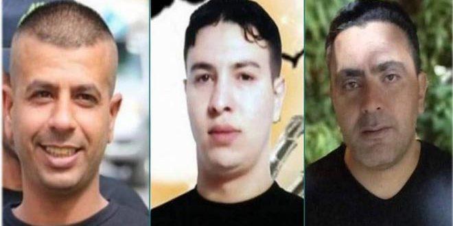 Trois détenus palestiniens poursuivent leur grève de la faim pour protester contre les crimes de l'occupation