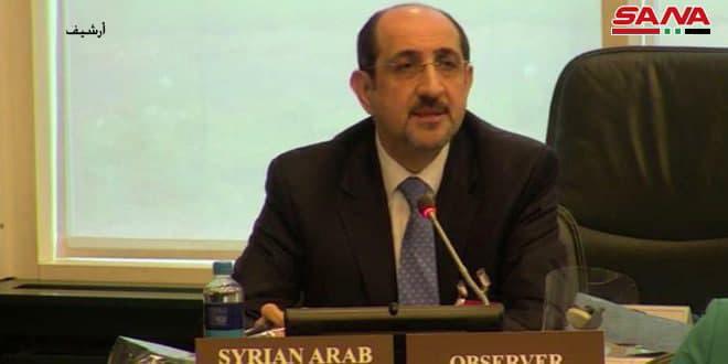 Sabbagh: Les agressions israéliennes répétées contre les territoires syriens constituent une violation flagrante de la charte de l'ONU