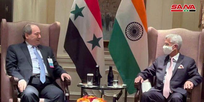 L'Inde affirme son engagement au soutien de la Syrie dans la lutte antiterroriste