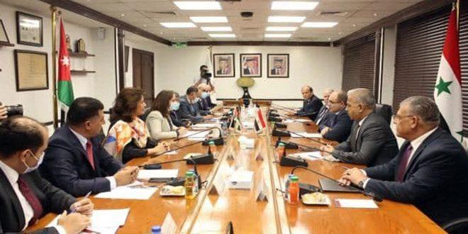 Réunions ministérielles syro-jordaniennes à Amman pour examiner les moyens de renforcer la coopération bilatérale