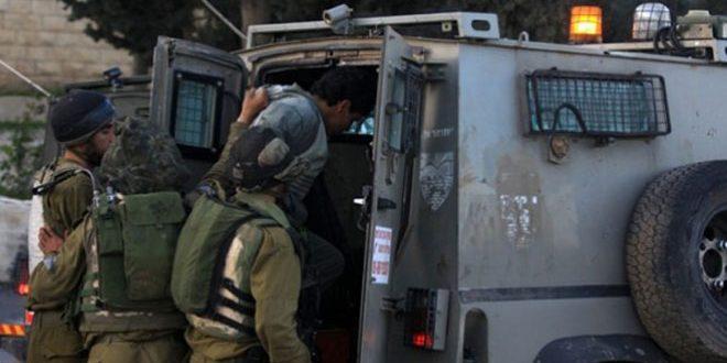 מעצרם של 4 תושבים פלשתינים בגדה המערבית