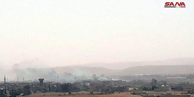 השמדת ביצורי הטרוריסטים באל-חג'ר אל-אסו'ד שבדרום דמשק