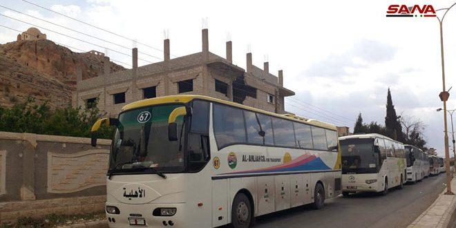 30 אוטובוסים הוכנו להוצאת הקבוצה השניה מטרוריסטי הקלמון המזרחי לצפון הסורי