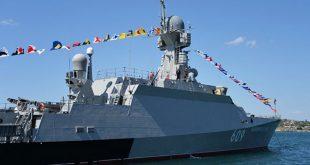 ספינה רוסית מצויידת בטילי קאליבר הצרטפה לכוחות הרוסיים שבים התיכון